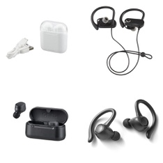 3 Pallets – 1488 Pcs – In Ear Headphones, Other, Power Adapters & Chargers, Over Ear Headphones – Customer Returns – Onn, Blackweb, Monster, Anker
