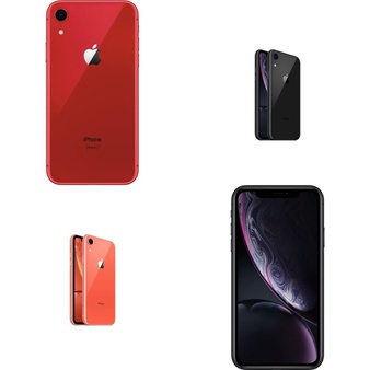 5 Pcs – Apple iPhone XR – Refurbished (GRADE B – Unlocked) – Models: MRYW2LL/A – TF, MRYR2LL/A – TF, MRYR2LL/A, MRYX2LL/A