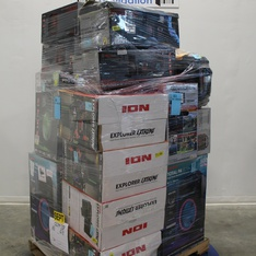 6 Pallets - 176 Pcs - Speakers, Portable Speakers, Video, Stereos - Customer Returns - Ion, Pioneer, Blackweb, Monster