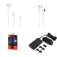 Pallet - 1173 Pcs - In Ear Headphones, Ink, Toner, Accessories & Supplies, Lamps, Parts & Accessories, Chargers - Customer Returns - Apple, One For All, Onn, HP