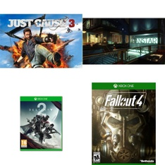 21 Pcs – Microsoft Video Games – New – Destiny 2 (Xbox One), Just Cause 3 – Day One Edition – Xbox One, Prey – Xbox One, Fallout 4 (Xbox One)