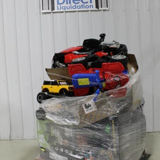 12 Pallets - 116 Pcs - Toys - Vehicles, Vehicles, Trains & RC, Not Powered, Action Figures - Customer Returns - Huffy, New Bright, Adventure Force, Kid Trax