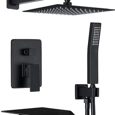 Pallets - 20 Pcs - Yesimi 3FSF-A01 Shower System Matte Black Wall Mounted Shower 10 Inches - Brand New - Retail Ready