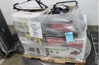 Pallet – 7 Pcs – Mowers, Microwaves – Customer Returns – Hyper Tough, Mainstays