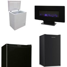 Pallet - 7 Pcs - Bar Refrigerators & Water Coolers, Fireplaces - Customer Returns - Hamilton, Artic King, Danby, Muskoka
