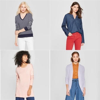100 Pcs – T-Shirts, Polos, Sweaters & Cardigans – New – Retail Ready – A New Day, Universal Thread