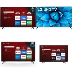 48 Pcs - LED/LCD TVs - Refurbished (GRADE A) - TCL, LG, SCEPTRE