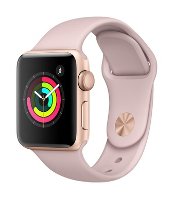10 Pcs – Apple Watch Gen 3 Series 3 38mm Rose Gold Aluminum – Pink Sand Sport Band MQKW2LL/A – Refurbished (GRADE C)