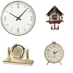 31 Pcs - Clocks- Used, Like New, Open Box Like New, New - Retail Ready - threshold, 3dRose, 3D Rose, AdSpec