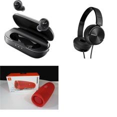 94 Pcs - Headphones & Portable Speakers - Refurbished (GRADE A) - Anker, Sony, JBL