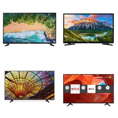 5 Pcs - LED/LCD TVs - Refurbished (GRADE A) - Samsung, LG, HISENSE, SHARP