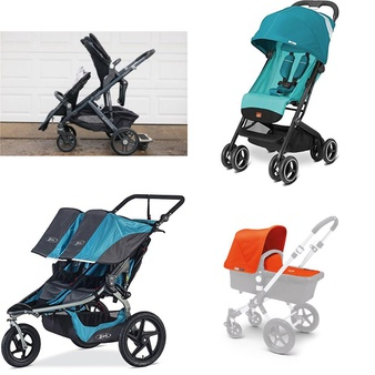 7 Pcs – Baby Strollers – Used, New, New Damaged Box – Retail Ready – Chicco, Bugaboo, GB, BOB Gear