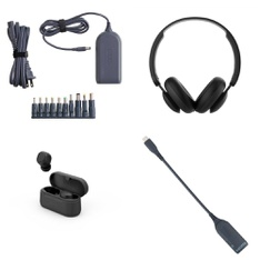 Pallet – 423 Pcs – Other, Over Ear Headphones, Power Adapters & Chargers, Keyboards & Mice – Customer Returns – Onn, onn., Blackweb, Withit