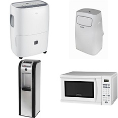 Pallet – 9 Pcs – Air Conditioners, Bar Refrigerators & Water Coolers – Customer Returns – TCL, Midea, GHP Group, RCA