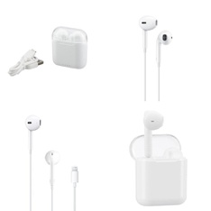 6 Pallets – 2219 Pcs – In Ear Headphones, Lamps, Parts & Accessories, Other, Accessories – Customer Returns – Onn, Apple, Blackweb, One For All