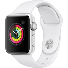 5 Pcs - Apple Watch Gen 3 Series 3 38mm Silver Aluminum - White Sport Band MTEY2LL/A - Refurbished (GRADE C)