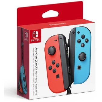 46 Pcs – NINTENDO Switch Joy-Con (L/R)-Neon Red/Neon Blue Wireless Controller – Refurbished ( GRADE A ) – Video Game Controllers