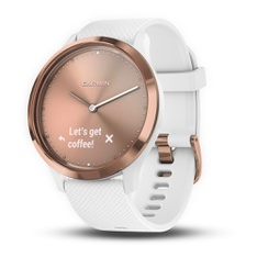50 Pcs – Garmin A03256 Hybrid Smartwatch for Men and Women, White/Rose Gold – New – Retail Ready