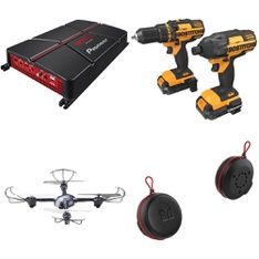 Pallet – 32 Pcs – Drones & Quadcopters Vehicles, Speakers, DVD & Blu-ray Players, Monitors – Customer Returns – Propel, Canon, Pioneer, Philips