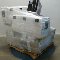 3 Pallets – 31 Pcs – Camping & Hiking, Vacuums, Office, Freezers – Customer Returns – Ozark Trail, Space Solutions, iRobot, Mainstays