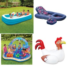 Pallet - 46 Pcs - Pools & Water Fun, Action Figures, Outdoor Sports - Customer Returns - Play Day, Summer Waves, SwimSchool, Waterlife