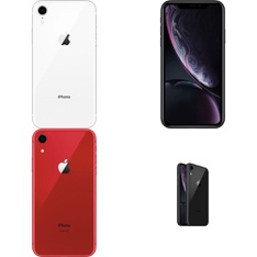 5 Pcs - Apple iPhone XR - Refurbished (GRADE B - Unlocked) - Models: MRYR2LL/A, MT012LL/A, MRYR2LL/A - TF, MRYX2LL/A