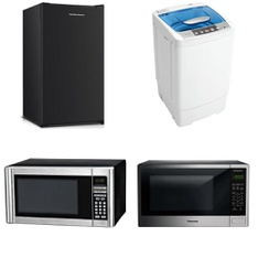 Pallet – 9 Pcs – Microwaves, Bar Refrigerators & Water Coolers – Customer Returns – Hamilton Beach, Danby, Panasonic, Sunbeam