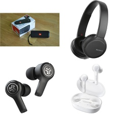 16 Pcs – Anker, JBL, Sony, JLab Audio Headphones & Portable Speakers – Refurbished (GRADE A) – Models: WHCH510/B, JBuds Air Executive True Wireless Earbuds, Black, JBLFLIP3BLK, A3908-White