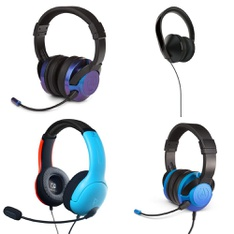 16 Pcs – Video Game Headsets – Refurbished (GRADE A) – PowerA, PDP, Microsoft, LUCID