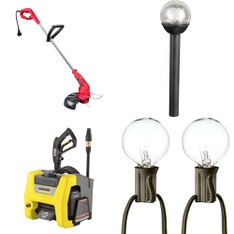 3 Pallets - 127 Pcs - Patio & Outdoor Lighting / Decor, Trimmers & Edgers, Pressure Washers, Mowers - Customer Returns - Hyper Tough, Karcher, Mainstay, Mainstay's