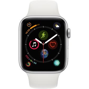 50 Pcs – Apple Watch Gen 4 Series 4 44mm Silver Aluminum – White Sport Band MU6A2LL/A – Refurbished (GRADE A)
