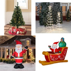 Pallet – 56 Pcs – Decorations & Favors, Decor – Customer Returns – Holiday Time, Airblown, Gemmy, Air Flowz