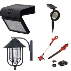 3 Pallets - 91 Pcs - Patio & Outdoor Lighting / Decor, Trimmers & Edgers, Leaf Blowers & Vaccums - Customer Returns - Hyper Tough, WESTINGHOUSE, Better Homes & Gardens, Honeywell