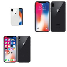 8 Pcs - Apple iPhone X - Refurbished (GRADE B - Unlocked) - Models: 3D063LL/A, MQAM2LL/A, MQA52LL/A
