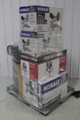 Pallet – 8 Pcs – Power Tools – Customer Returns – Kobalt, DEWALT
