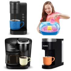 Pallet - 60 Pcs - Single Cup Brewers, Food Processors, Blenders, Mixers & Ice Cream Makers - Customer Returns - Keurig, Cra-Z-Art, Ninja