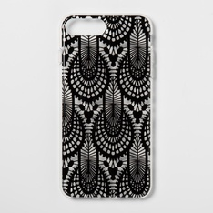 28 Pcs - heyday Apple iPhone 8 Plus/7 Plus/6s Plus/6 Plus Printed Lace Case, Black - Stylish - New Damaged Box, New, Like New, Open Box Like New - Retail Ready