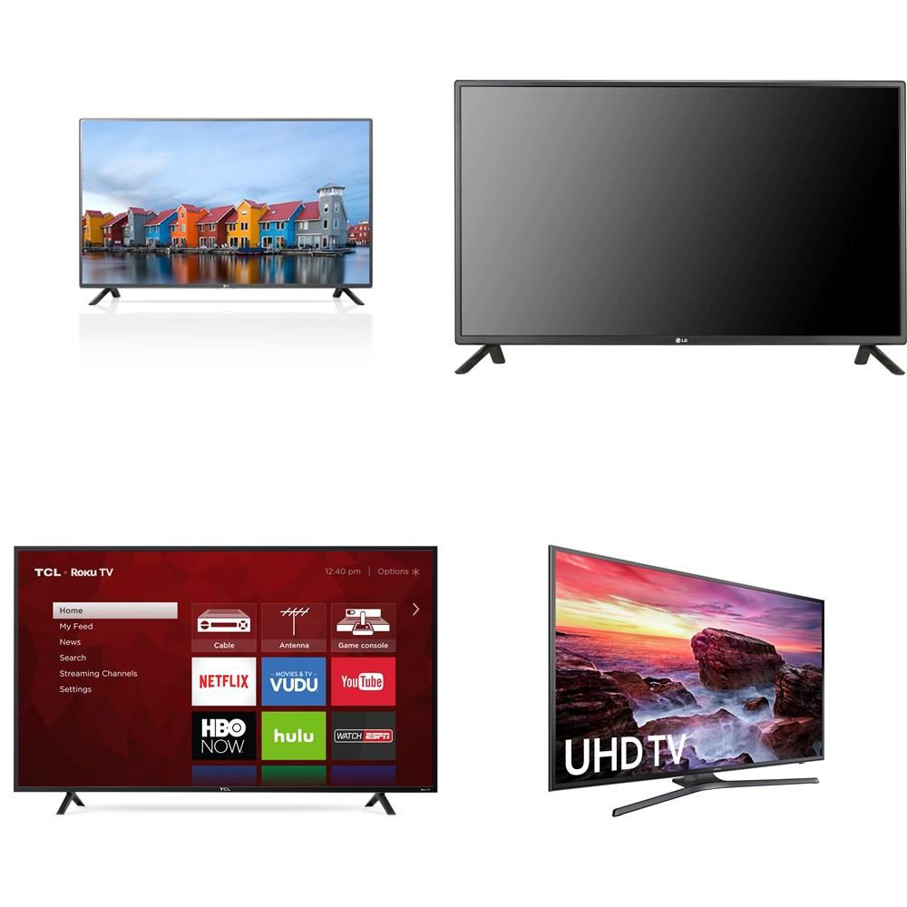 Special! 10 Pcs - LED/LCD TVs (50/55 inch) - Refurbished (GRADE A - No  Remote) - LG, TCL, Samsung, ELEMENT