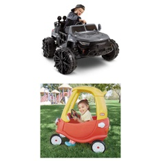 Pallet - 2 Pcs - Vehicles - Customer Returns - Little Tikes, Huffy