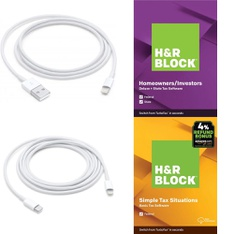 3 Pallets – 372 Pcs – Other, Software, Accessories – Customer Returns – Apple, H&R Block, UNBRANDED, ARCADE1up