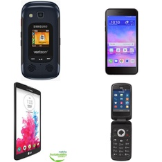 CLEARANCE! 19 Pcs – Samsung SMB690VBKA Convoy 4 5MP Verizon Wireless Cellphone, LG VS880 G Vista Smartphone Verizon, Huawei H881C Ascend Plus – TelCel America Prepaid Smartphone (4″ 5MP Android), ZTE Z232TL 4G LTE Prepaid Phone – Refurbished (GRADE A, GRADE B – Not Activated)