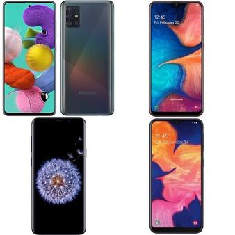 5 Pcs – Samsung Smartphones – Tested NOT WORKING – Models: SM-A205G/DS, DSMN5021, SM-A102U, A515F/DS