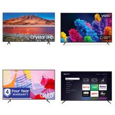 18 Pcs – LED/LCD TVs – Refurbished (GRADE A, GRADE B) – VIZIO, Samsung, TCL, SCEPTRE