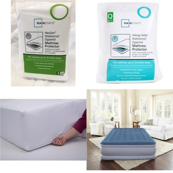 3 Pallets – 171 Pcs – Covers, Mattress Pads & Toppers, Comforters & Duvets, Bedding Sets – Customer Returns – Mainstay's, Mainstays, Aller-Ease, Beautyrest