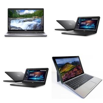 9 Pcs – Laptops – Certified Refurbished (GRADE C) – Models: LAT0067948-R0015582-SD, LAT0063921-R0014994-SD, LAT0068769-R0014994-SD, LAT0048821-R0002152-SD