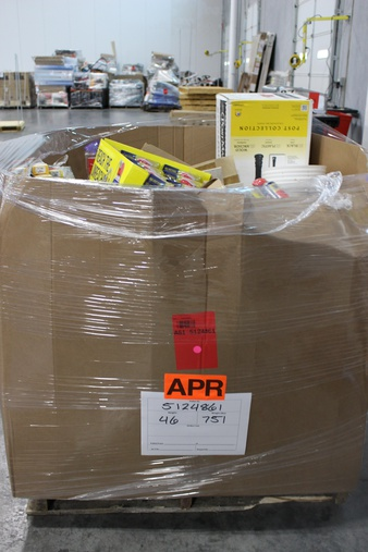 Clearance! Pallet – 842 Pcs – Hardware, Vacuums, Bath, Lighting & Light Fixtures – Brand New – Retail Ready – Hillman, Brainerd, SIKA CORPORATION, Letica