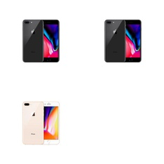 5 Pcs - Apple iPhone 8 Plus - Refurbished (GRADE A - Unlocked) - Models: MQ8D2LL/A, 3D061LL/A, MQ8D2LL/A - TF