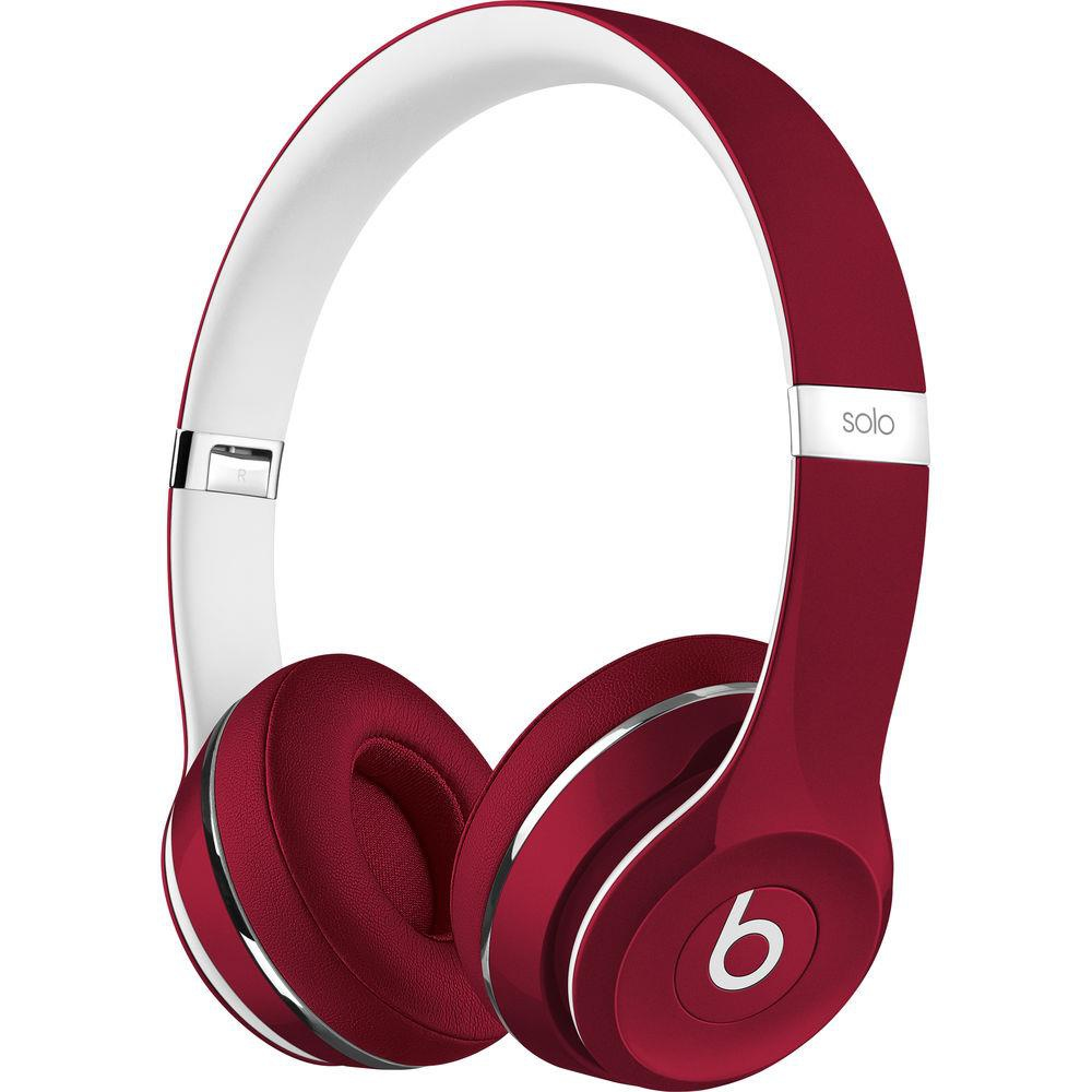 25 Pcs Apple Beats Solo2 Red Luxe Edition Wired On Ear Headphones Ml9g2am A Refurbished Grade A