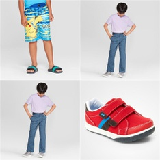 86 Pcs - Boy`s Clothing and Shoes - New - Retail Ready - The Pokemon Co., Cat & Jack, Stride Rite, Genuine Kids from OshKosh
