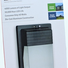 12 Pcs – Honeywell LED Security Wall Light – New – Retail Ready